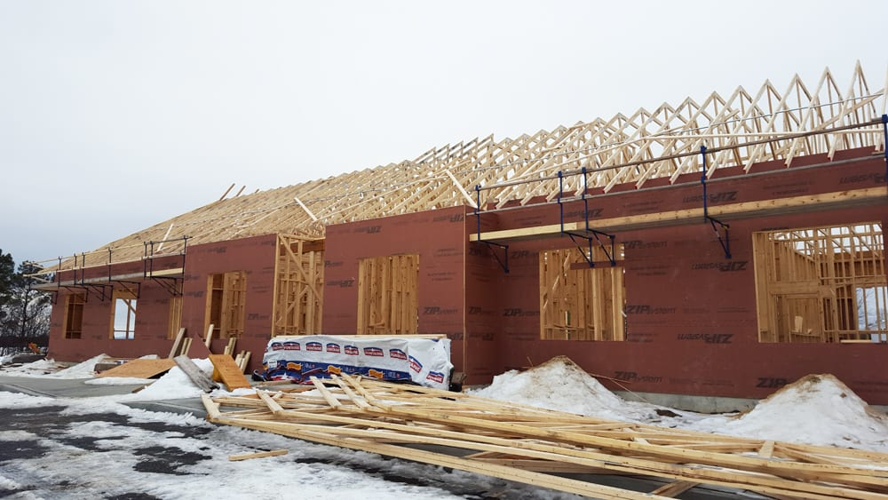 Rafters going up on our new building!