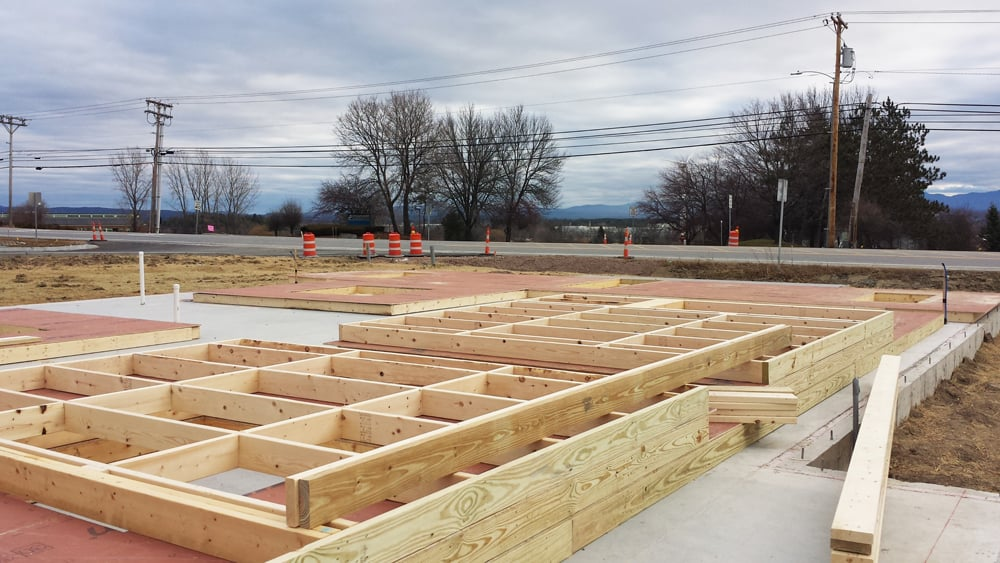Framing begins for the structure of our brand new building!